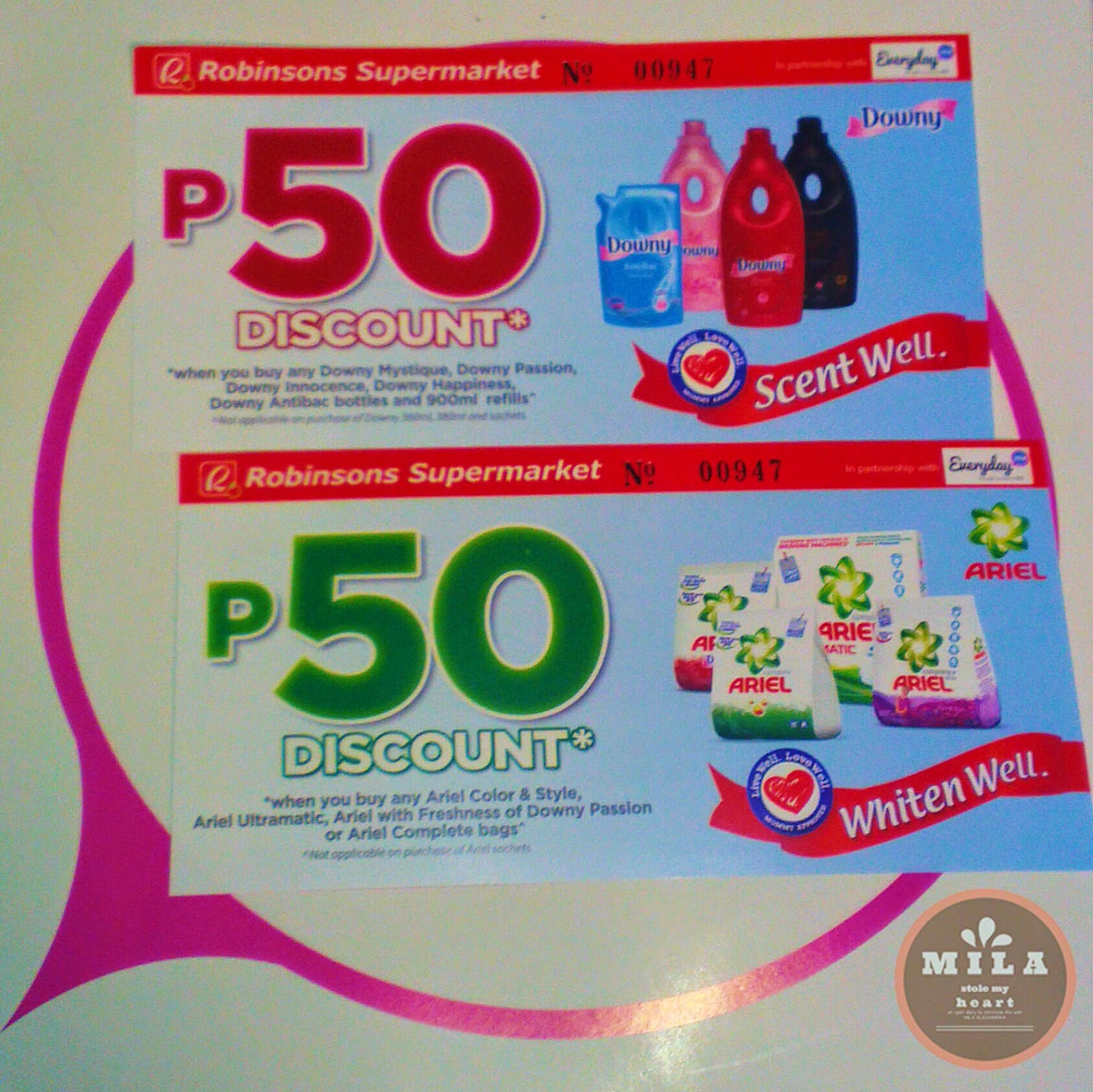 Downy and Ariel Discount Vouchers