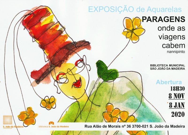 """EXPOSIÇÃO DE AGUARELAS """"PARAGENS"""" DE NANNI PINTOS"""
