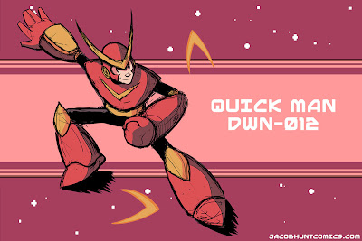 Robot Master Quick Man from Mega Man 2
