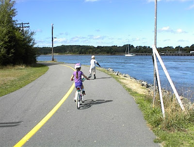 Bicycling on the Cape Cod Canal Mainland Side