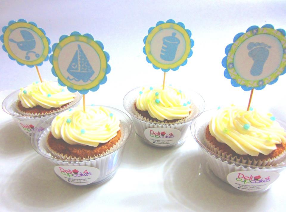 ARTE KRUSAY : Cupcake Toppers para Baby Shower Niño