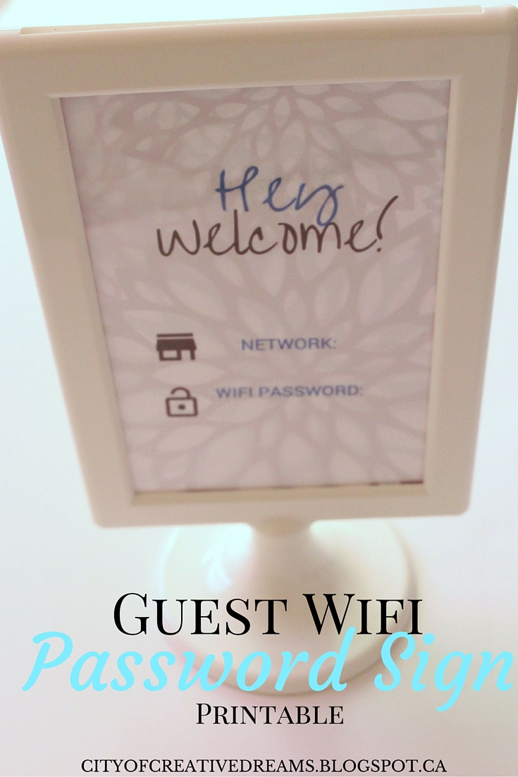 guest wifi sign printable