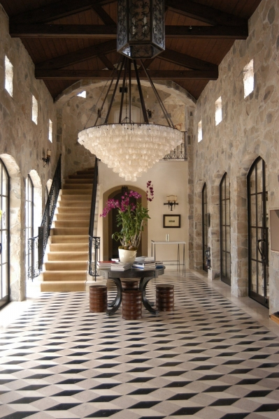 Contemporary Grand Foyer : Eye for design decorating the stone home