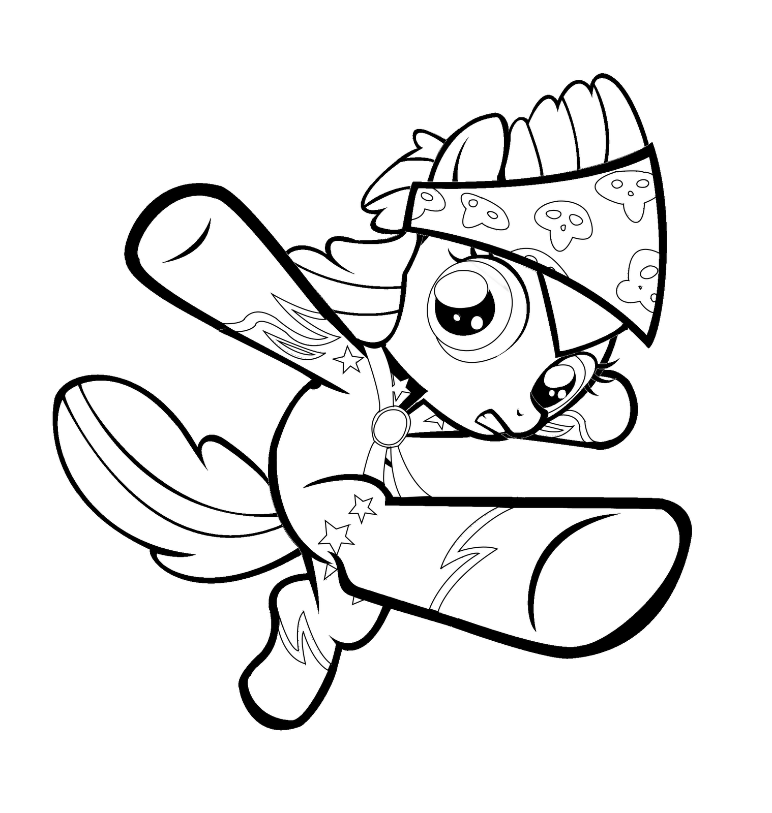 my little pony apple bloom coloring page free printable - HD 1518×1600