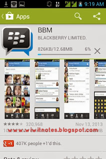 Instal BBM di Play Store