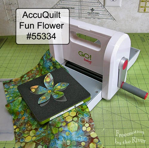 AccuQuilt Fun Flower die at Freemotion by the River