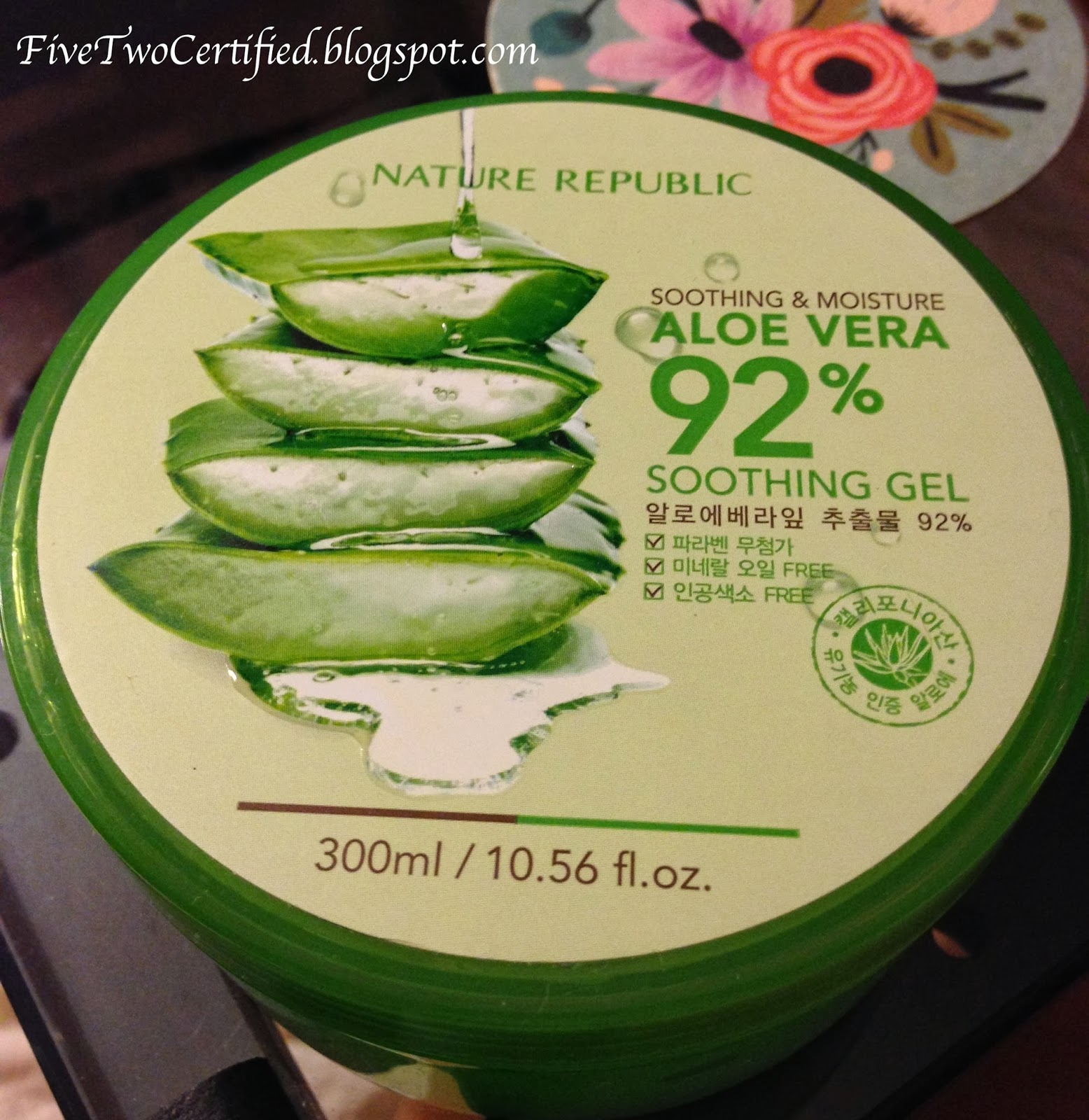 Nature republic soothing and moisture aloe vera 92 soothing gel 300ml - Nature Republic Aloe Vera 92 Soothing Gel Review