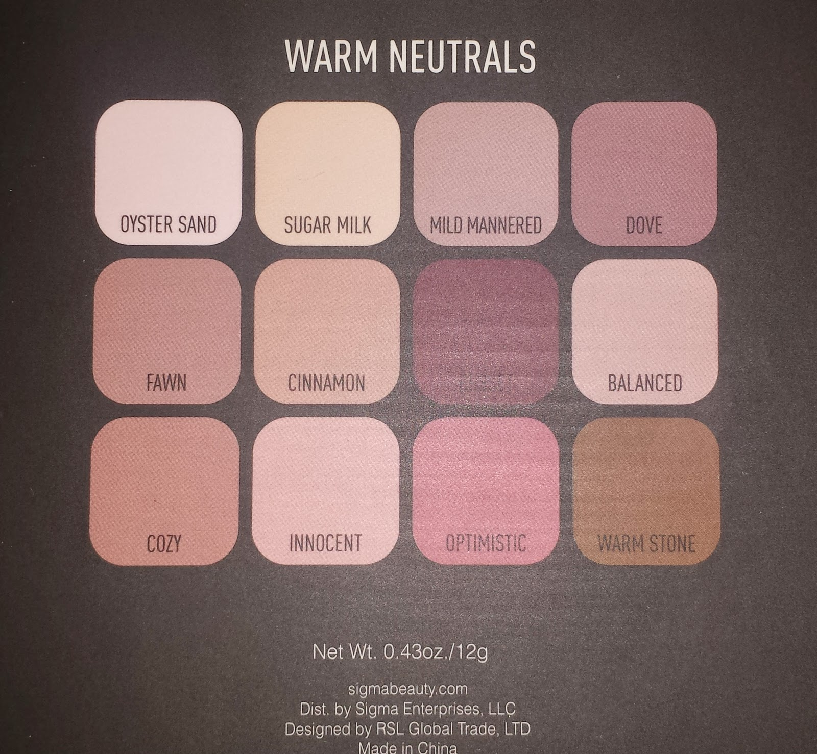Sigma Beauty Warm Neutrals Palette