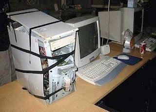 smešna slika: računar teško sjeban