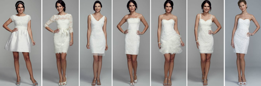 David Bridal White Dresses