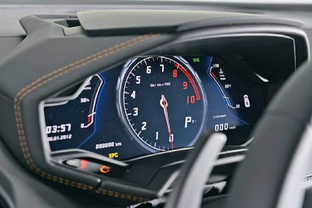 Lamborghini Huracan - painel digital
