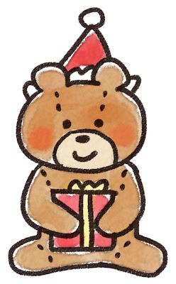 テディベアのイラスト(クリスマス)