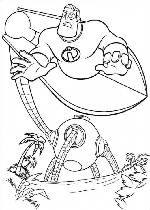 the incredible coloring pages - photo#33