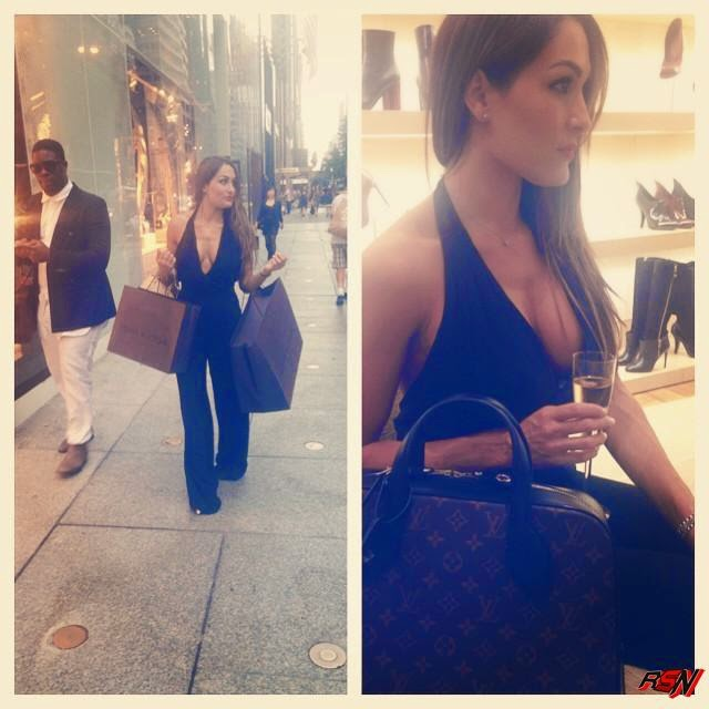 Nikki Bella Shopping for Crap.