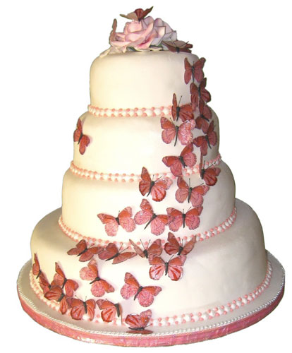 Wedding Cakes Pictures: Butterfly Wedding Cake Decorations ...
