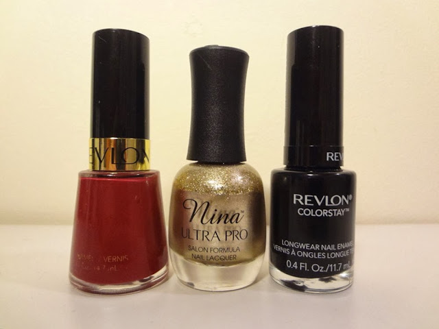 Revlon Raisin Rage, Big Spender Nina Ultra Pro, Revlon Stiletto, nail polish