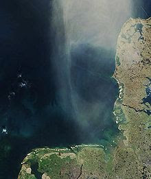 German Bight, Jutland to the right