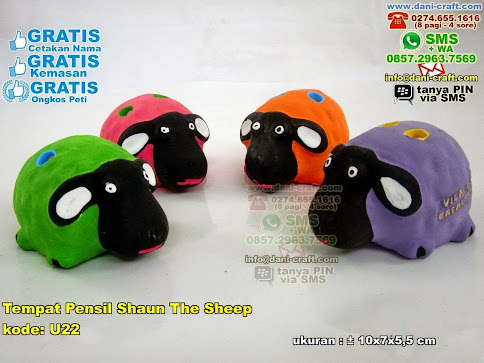 Tempat Pensil Shaun The Sheep Gerabah
