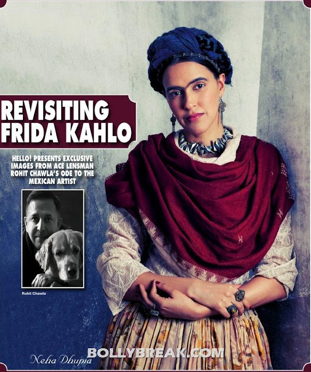 Neha Dhupia as Frida Kahlo - Neha Dhupia as Frida Kahlo