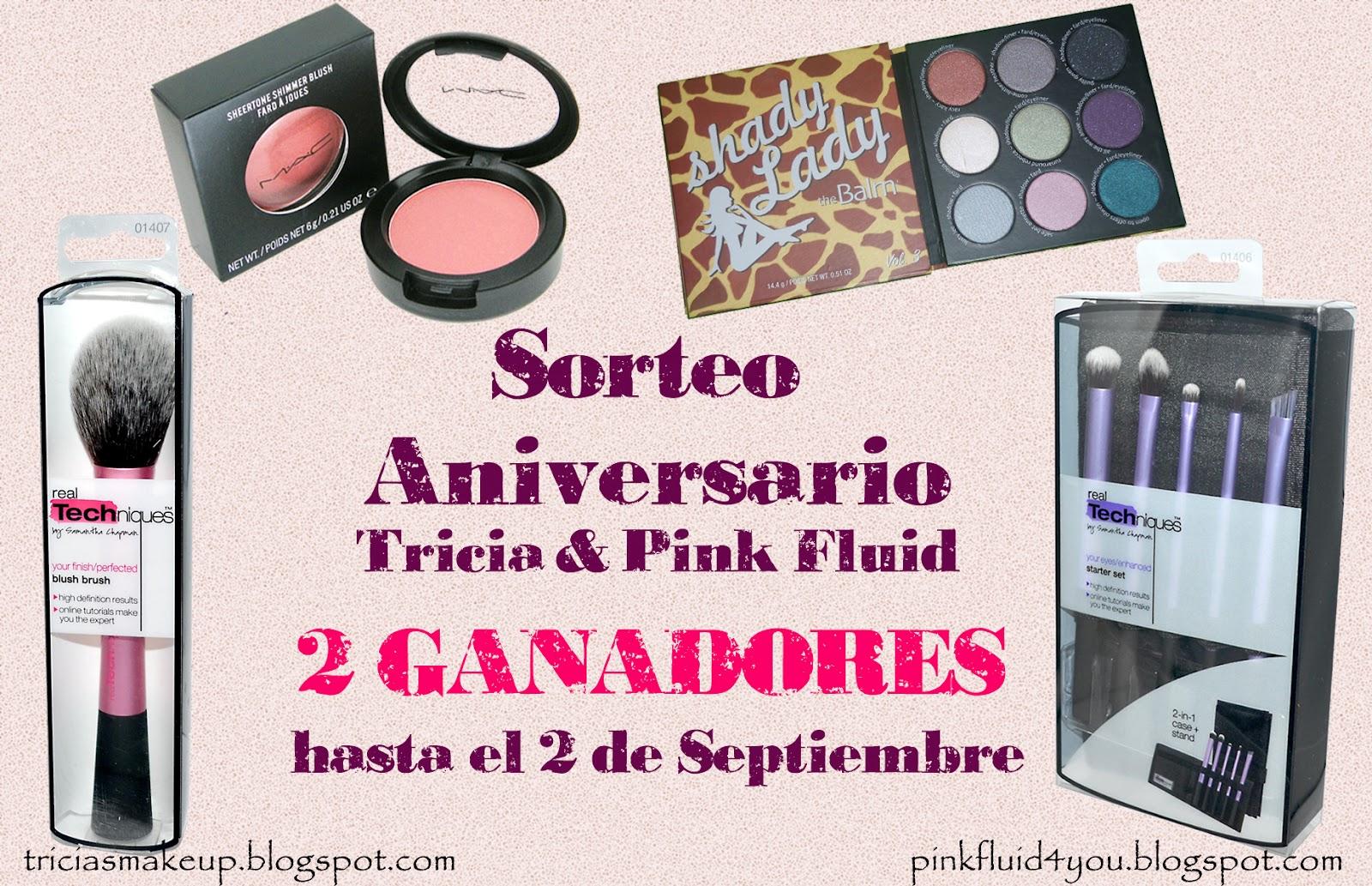 Sorteo Pink Fluid & Tricia's Make Up