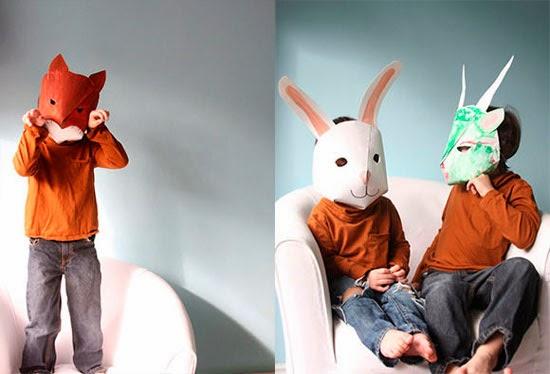 maschere di carta fai da te per bambini