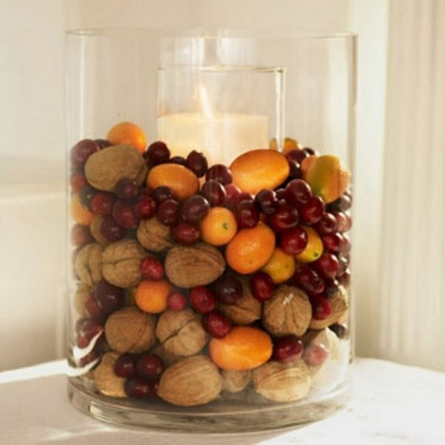 Decorate Candles For Christmas With Kishus And Nuts