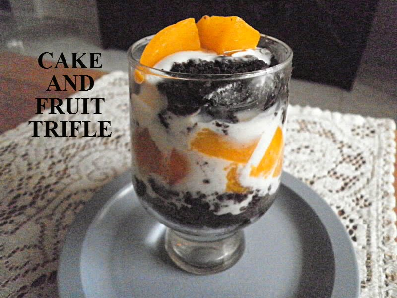 Cake & Fruit Trifle