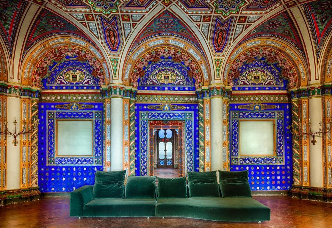 The Castello Di Sammezzano Is A Show Stopper A Jaw Dropper Hidden Away In The Tuscan Hills Of Northern Italy This Electrifyingly Beautiful Moorish Castle