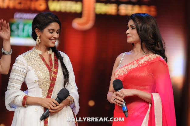 Asin in white Suit on Jhalak Dikhhla Jaa