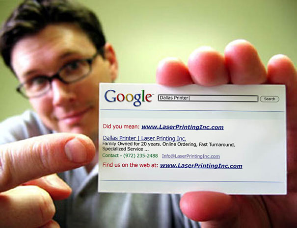 Cool business card - Google search
