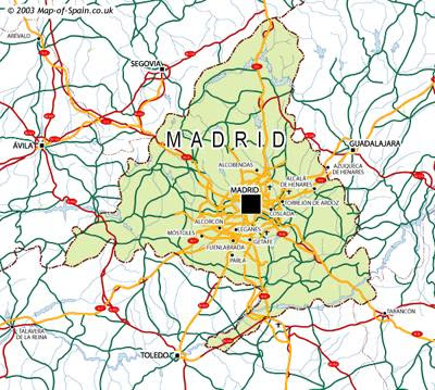 Madrid Carte de la ville