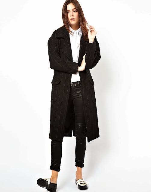 pinstripe coat