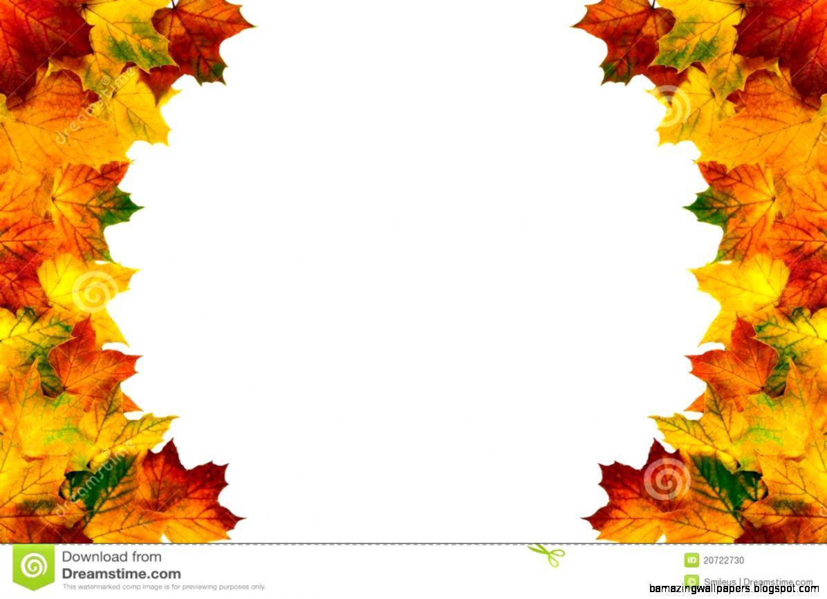Round Autumn Leaves Border Stock Photo   Image 42189092