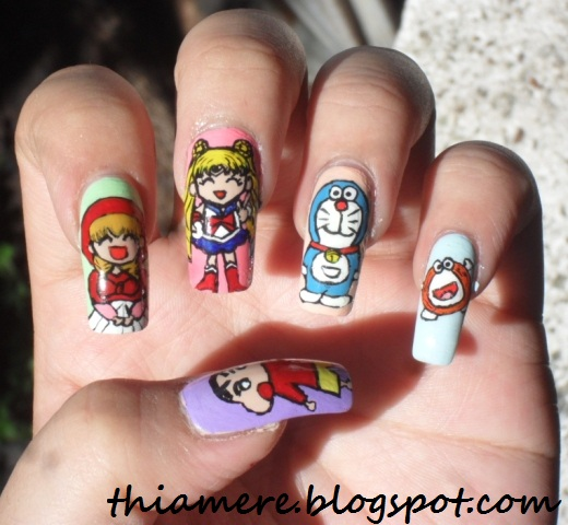 On Beauty Stuff And What Elses Bff Nail Art Challengecartoon