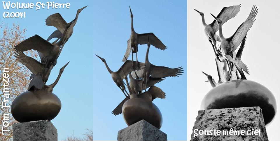 """Sculpteur Tom Frantzen - """"Sous le même ciel"""" - Woluwe-Saint-Pierre (2004) - Bruxelles-Bruxellons"""