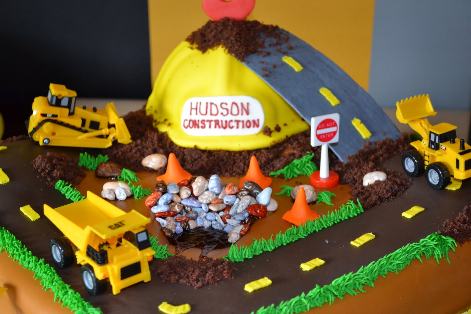 construction birthday cakes ideas