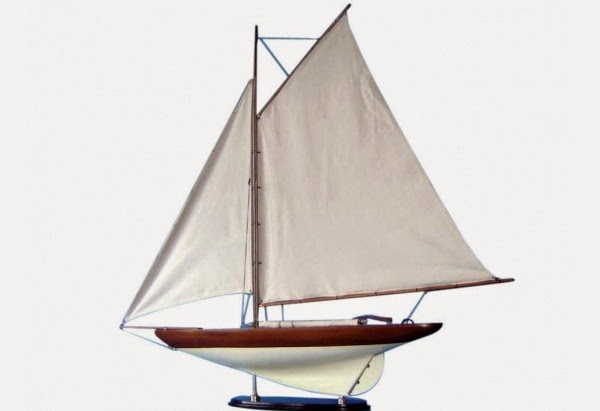 America's Cup Challenger Sailboat Model