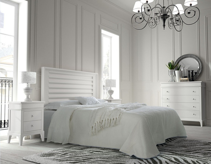 Decoraci n dormitorios vintage en color blanco with or - Dormitorios con muebles blancos ...