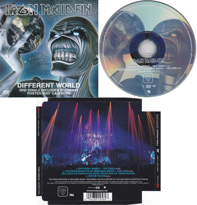 iron maiden different world dvd