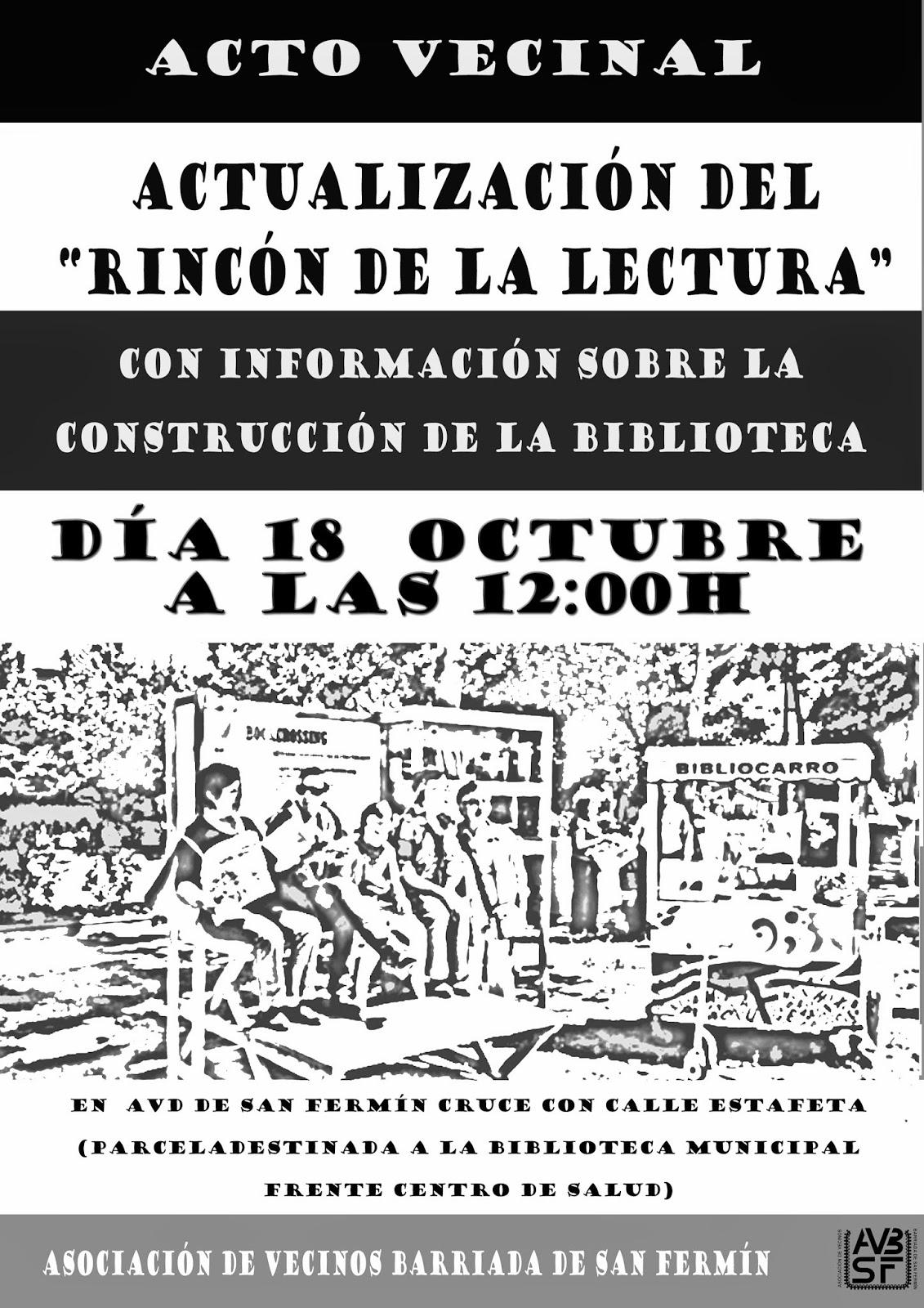 AAVV San Fermín - Acto Vecinal Rincón de la Lectura