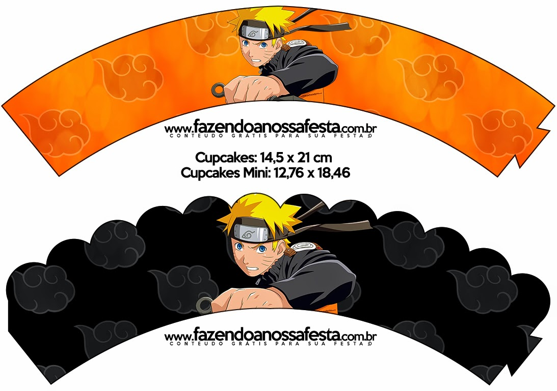 Wrappers para cupcakes de Naruto.