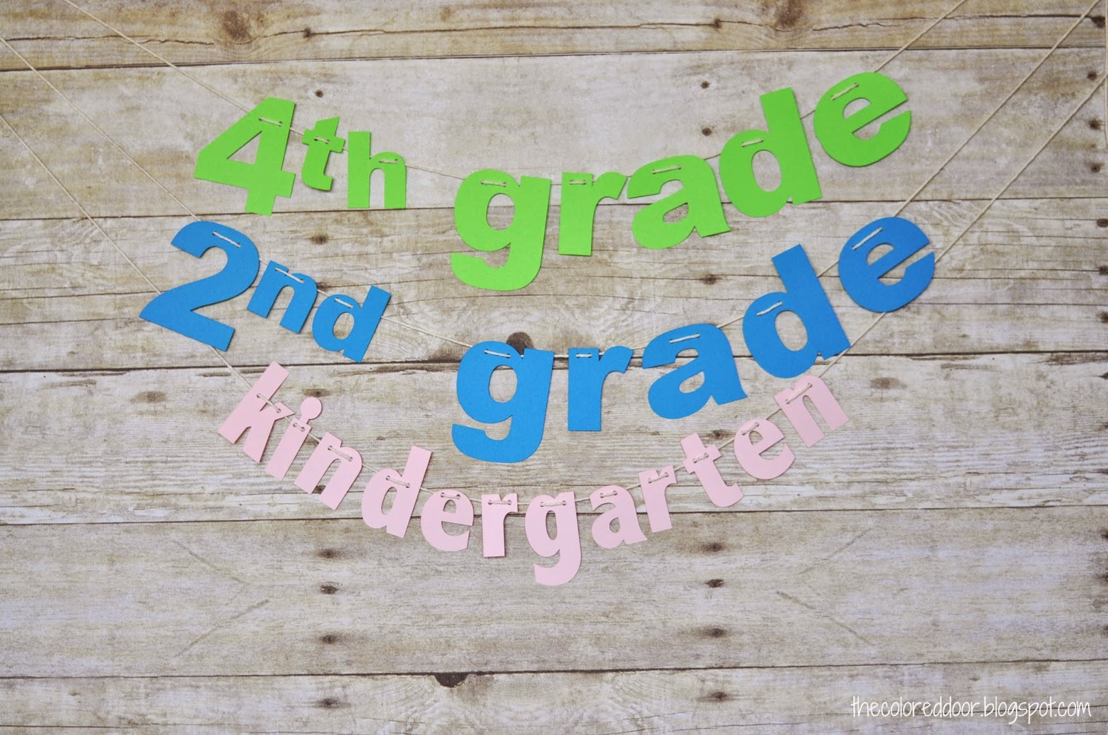 1st Day of school Banner | The colored door