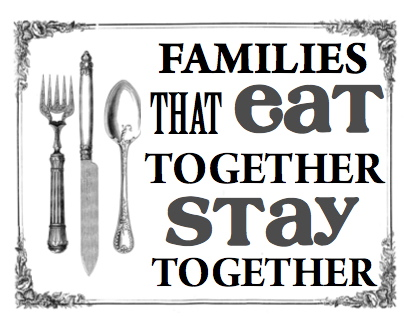 the importance of eating together as a family August 2, 2011 | home in the news 10 benefits to eating family dinner however, family dinners together are important so, i will continue to set that goal for my family i believe it's so important.