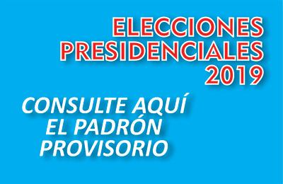 PADRÓN PROVISORIO