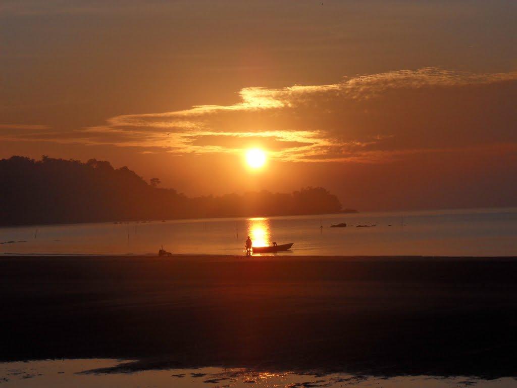Sunset in Sarawak, Malaysian Borneo