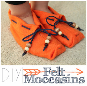 felt moccasin slippers