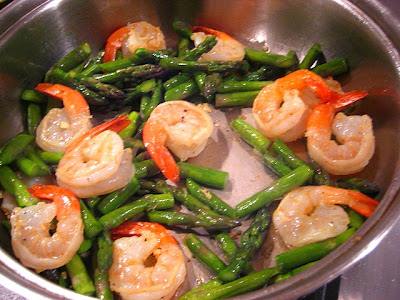 Add the cooked orzo, shrimp and asparagus back into the skillet with ...