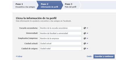 informacion de perfil facebook