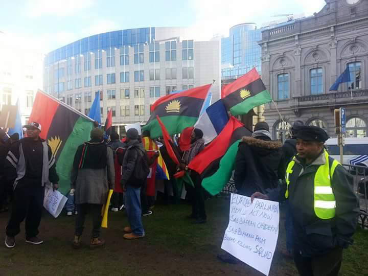 Photos: Pro Biafran Protests In Belgium