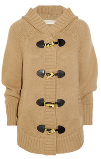 michael kors hooded knitted poncho